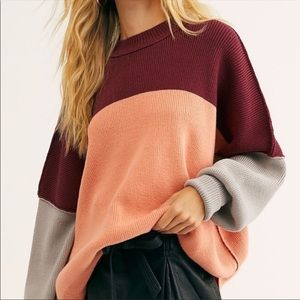 🍁🌻🍂HOST PICK🍂🌻🍁Colour Block Ovrsd Sweater